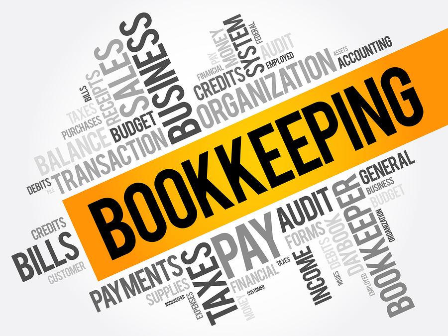 Bookkeeping word cloud collage business concept background